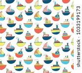 cute kids ship pattern for... | Shutterstock .eps vector #1033199173