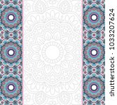invitation card with mandala. | Shutterstock .eps vector #1033207624