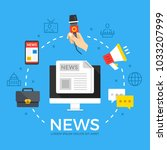 news. modern flat design style... | Shutterstock .eps vector #1033207999