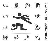 fight in wrestling icon. set of ... | Shutterstock .eps vector #1033209490