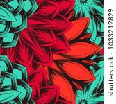 seamless floral background.... | Shutterstock .eps vector #1033212829
