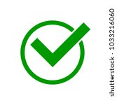 green check mark icon in a...   Shutterstock .eps vector #1033216060