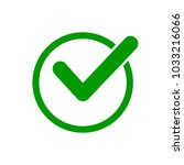 green check mark icon in a... | Shutterstock .eps vector #1033216066