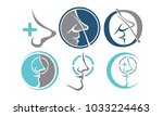 nose care template set | Shutterstock .eps vector #1033224463