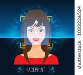 vector face recognition or... | Shutterstock .eps vector #1033226524