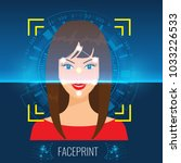 vector face recognition or...   Shutterstock .eps vector #1033226533