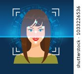 vector face recognition or...   Shutterstock .eps vector #1033226536
