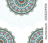 invitation card with mandala.... | Shutterstock .eps vector #1033229554