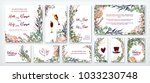 wedding invitation frame set  ... | Shutterstock .eps vector #1033230748