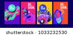 abstract colorful collage... | Shutterstock .eps vector #1033232530