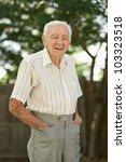 Happy 90 Year Old Senior Man...