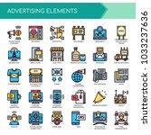 advertising elements   thin... | Shutterstock .eps vector #1033237636