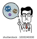 male doctor  virus | Shutterstock .eps vector #1033240330