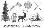 illustration of hand drawn... | Shutterstock . vector #1033240939