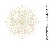 ornamental golden vector... | Shutterstock .eps vector #1033245193