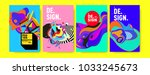 abstract colorful collage... | Shutterstock .eps vector #1033245673