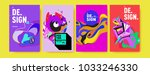 abstract colorful collage... | Shutterstock .eps vector #1033246330