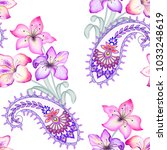 bright seamless pattern with... | Shutterstock . vector #1033248619
