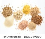 Set Of Heap Various Grains And...