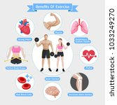 benefits of exercise. vector... | Shutterstock .eps vector #1033249270