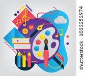art. set of illustration for... | Shutterstock .eps vector #1033253974