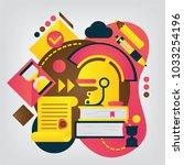 history. set of illustration... | Shutterstock .eps vector #1033254196