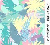 vector seamless beautiful... | Shutterstock .eps vector #1033254574