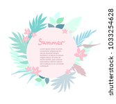 summer tropical background with ... | Shutterstock .eps vector #1033254628