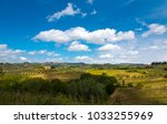 tuscan countryside landscape... | Shutterstock . vector #1033255969
