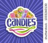 vector logo for candies  on cut ... | Shutterstock .eps vector #1033260130