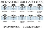 Illustration Of A Shirt Collar...