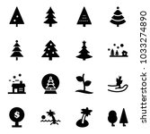 solid vector icon set  ... | Shutterstock .eps vector #1033274890