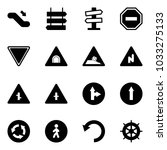 solid vector icon set  ... | Shutterstock .eps vector #1033275133