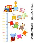 meter wall with funny cheerful... | Shutterstock .eps vector #1033275268
