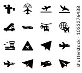 solid vector icon set   traffic ... | Shutterstock .eps vector #1033276438