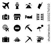 solid vector icon set   plane... | Shutterstock .eps vector #1033276510