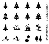 solid vector icon set  ... | Shutterstock .eps vector #1033278064