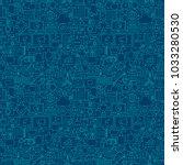 digital marketing line seamless ... | Shutterstock .eps vector #1033280530