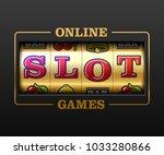 online slot games  slot machine ... | Shutterstock .eps vector #1033280866