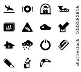 solid vector icon set   arrival ... | Shutterstock .eps vector #1033282816