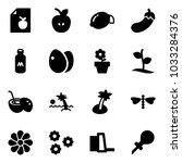 solid vector icon set   diet...   Shutterstock .eps vector #1033284376