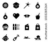 solid vector icon set  ... | Shutterstock .eps vector #1033285264