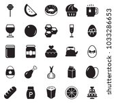 solid black vector icon set  ... | Shutterstock .eps vector #1033286653