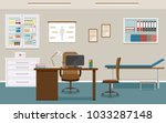doctor's consultation room... | Shutterstock .eps vector #1033287148