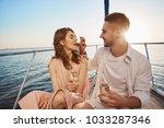 attractive european couple on a ... | Shutterstock . vector #1033287346