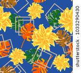 vintage seamless pattern with... | Shutterstock .eps vector #1033290430