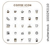 coffee icons 01 | Shutterstock .eps vector #1033292110