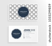 business card with square... | Shutterstock .eps vector #1033299859