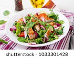 fresh vegetable salad with... | Shutterstock . vector #1033301428