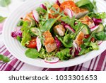 fresh vegetable salad with... | Shutterstock . vector #1033301653